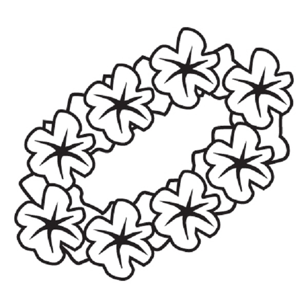 hawaiian flower coloring page - hawaiian flower pages sketch templates