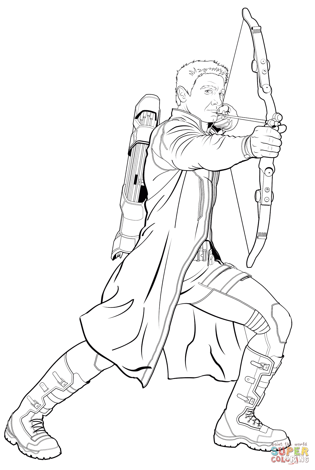 hawkeye coloring pages - avengers hawkeye