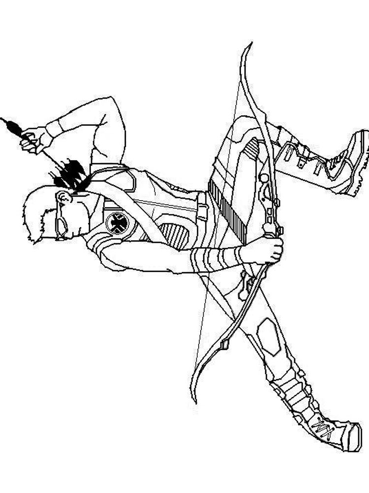 hawkeye coloring pages - coloring pages hawkeyetml