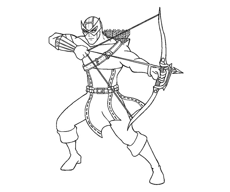 hawkeye coloring pages - hawkeye avenjers