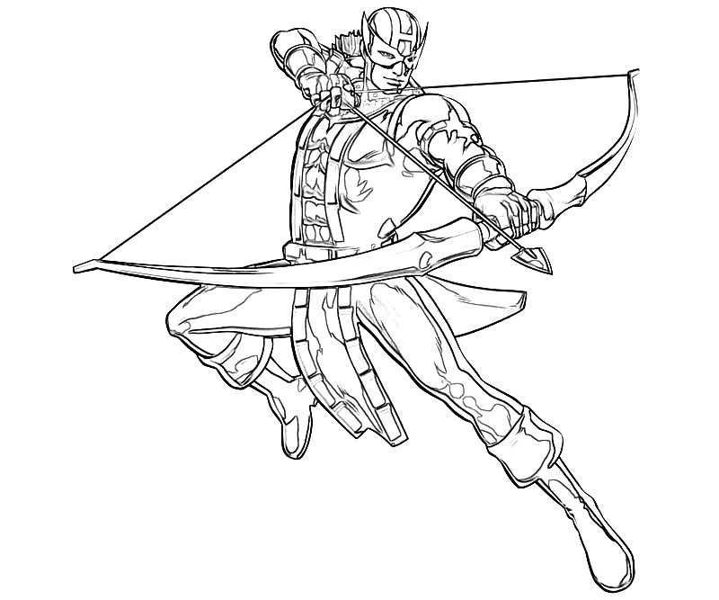 Hawkeye Coloring Pages - Hawkeye Coloring Pages