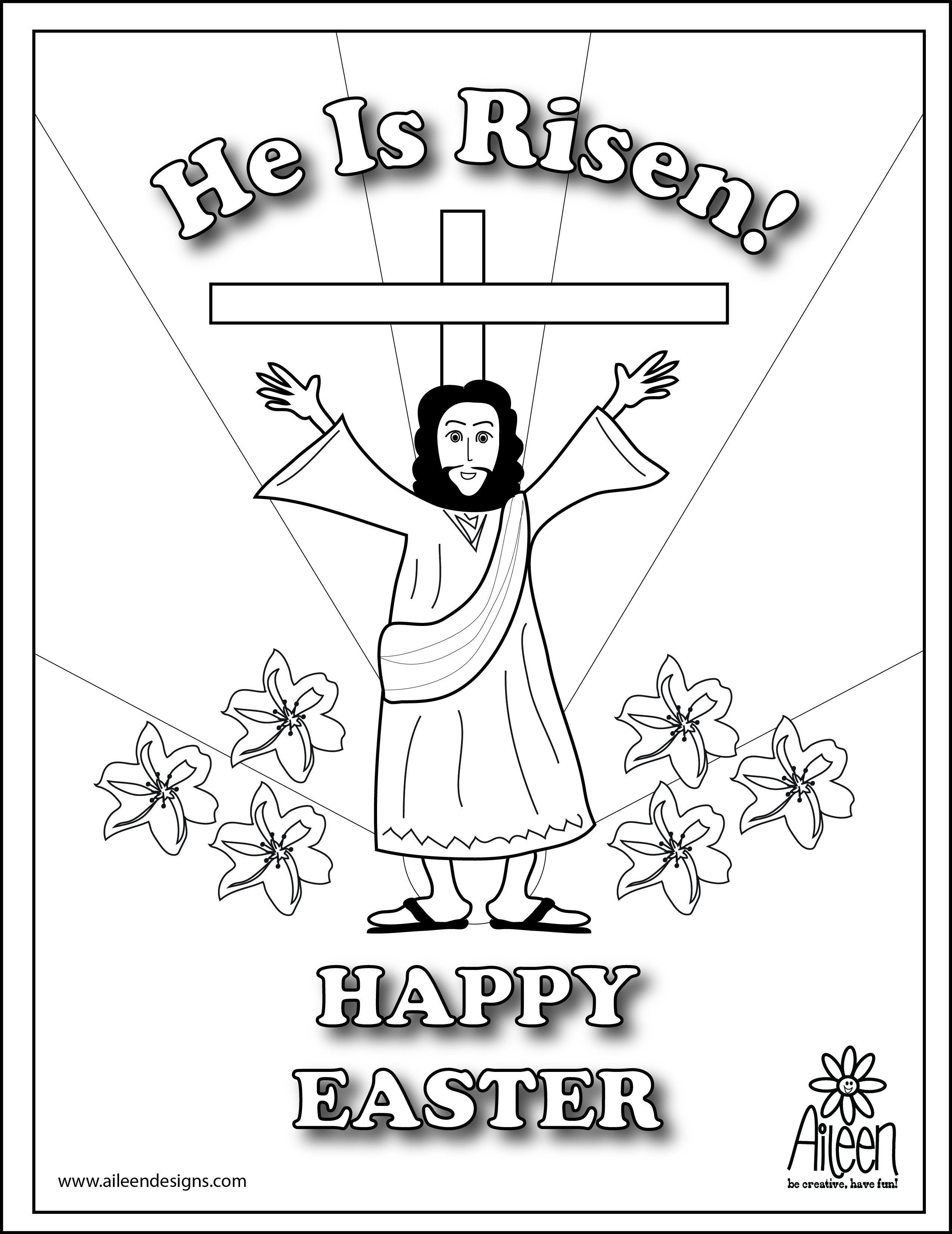he is risen coloring page - coloring pages happy easter