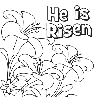 he is risen coloring page - coloring sheets