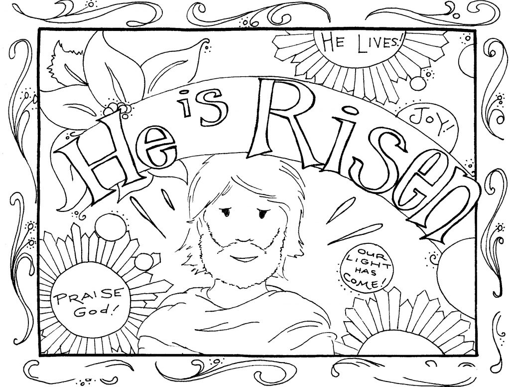 he is risen coloring page - easter coloring pages