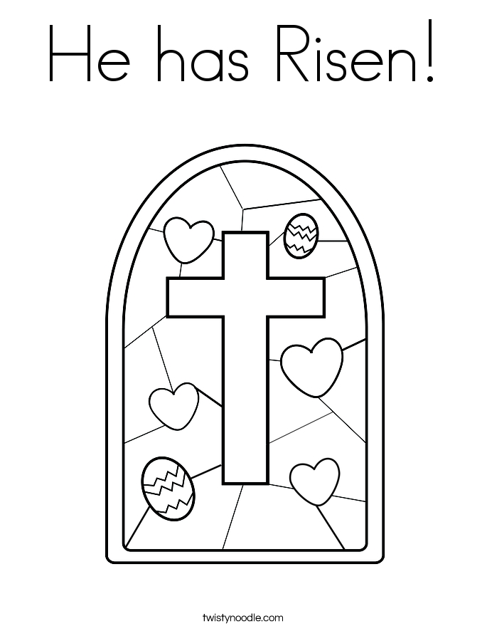 he is risen coloring page - he has risen coloring page