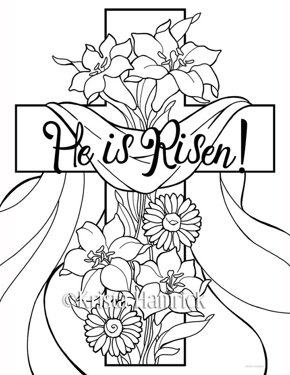 he is risen coloring page - he is risen 2 easter coloring pages for