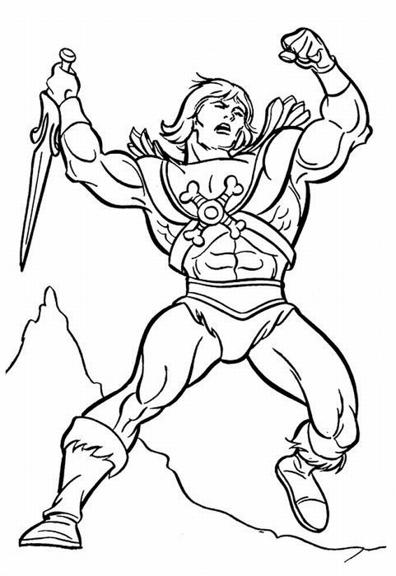 he man coloring pages - dawson
