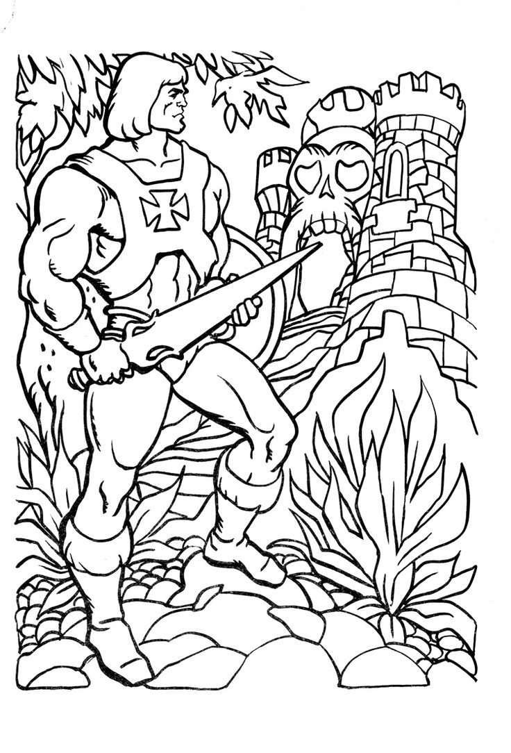 he man coloring pages -