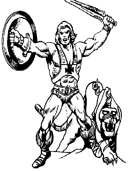 he man coloring pages - heman