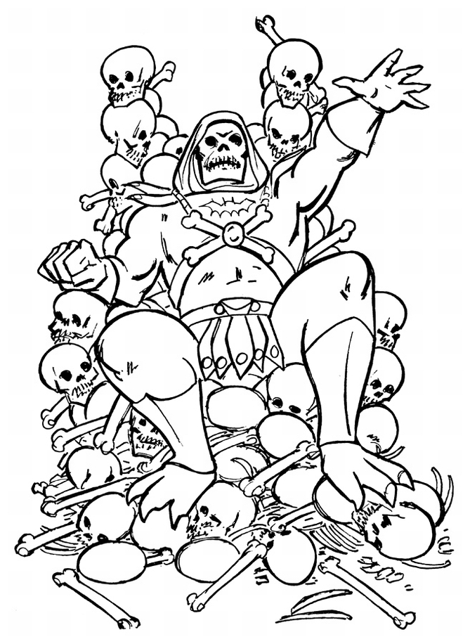 he man coloring pages - skeletor coloring pages sketch templates