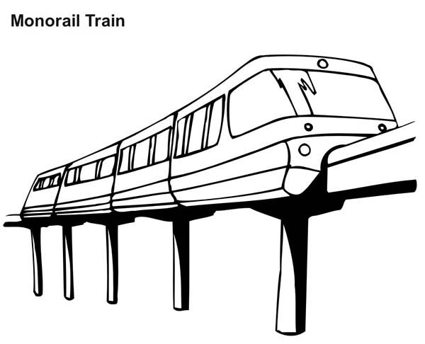 health coloring pages - monorail train coloring page