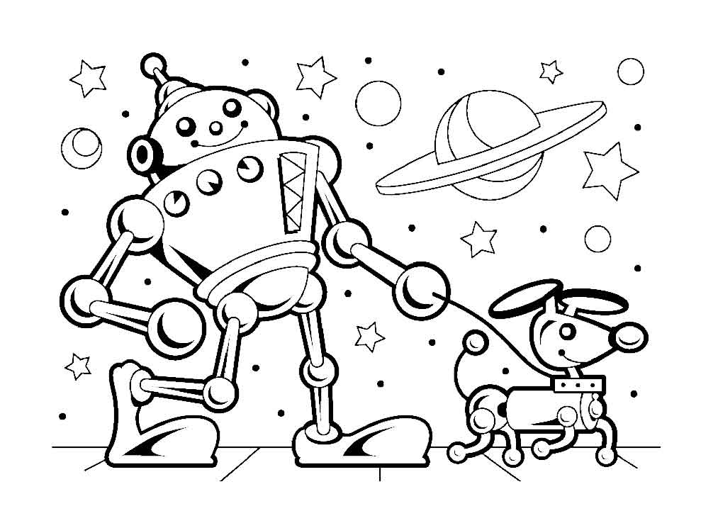 Health Coloring Pages - Robot Coloring Pages for Kids 13 Funnycrafts