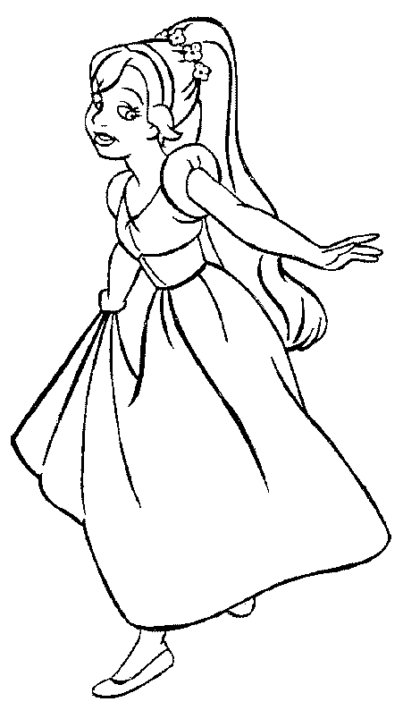 health coloring pages - thumbelina coloring pages