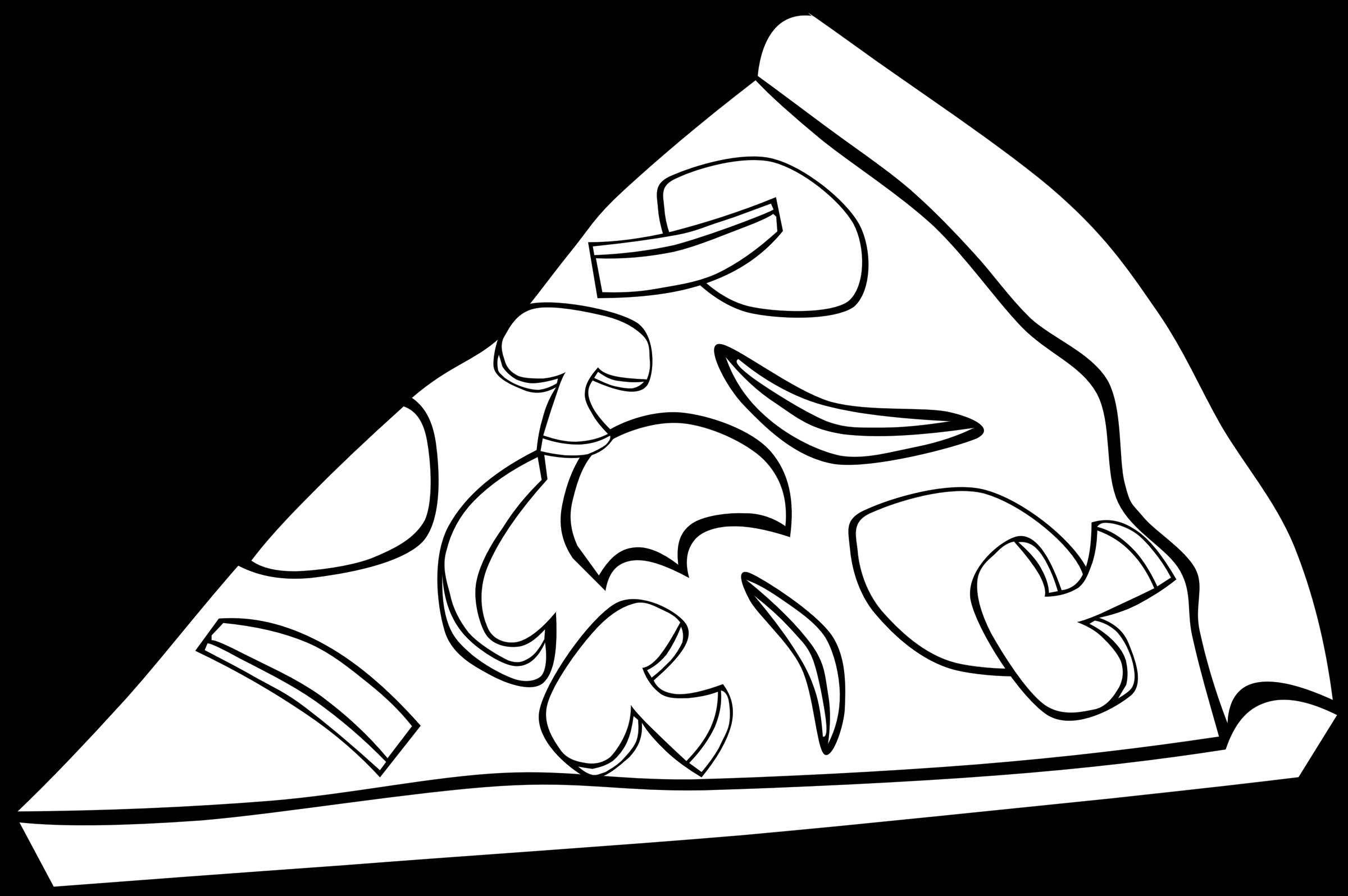 healthy food coloring pages - unhealthy food clipart black and white