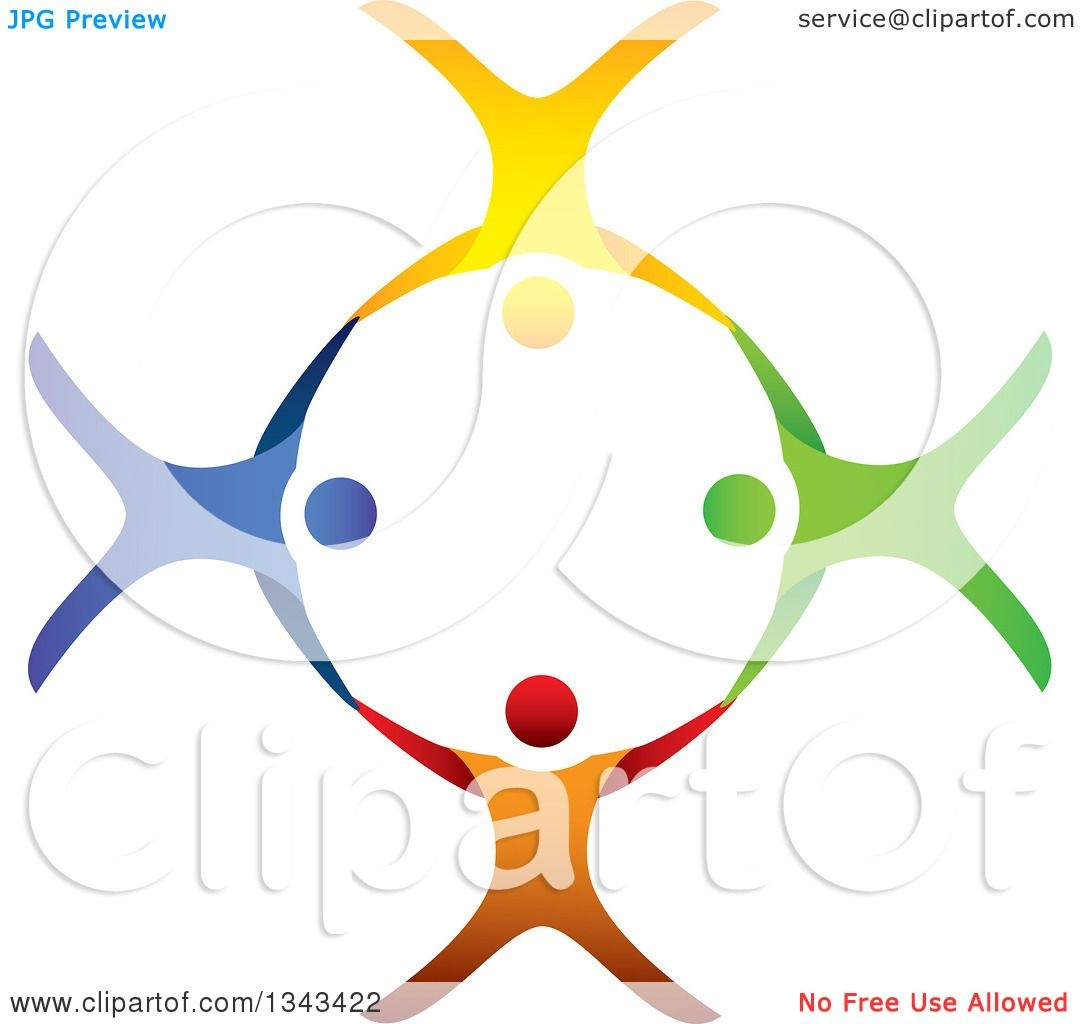 Heart Anatomy Coloring Pages - Clipart Of A Teamwork Unity Circle Of Colorful People