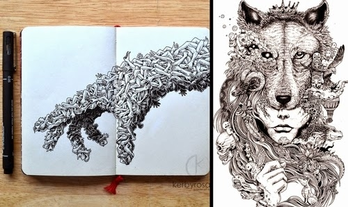 heart coloring pages for adults - detailed moleskine doodles