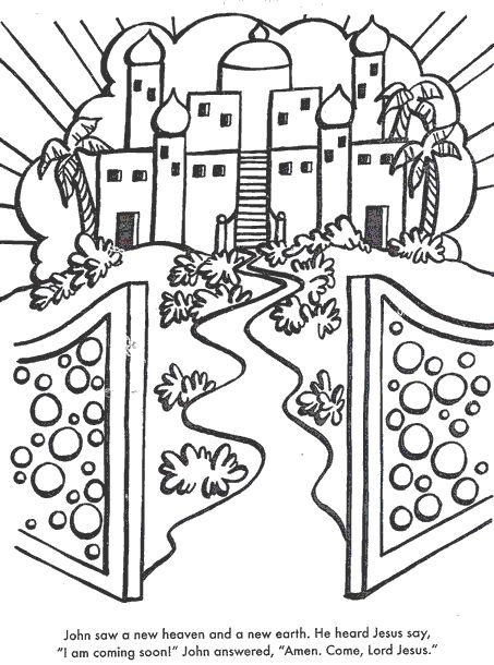 heaven coloring pages - bible coloring pages