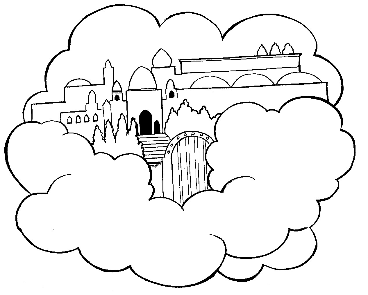 Heaven Coloring Pages - Free Coloring Pages Of Heaven for