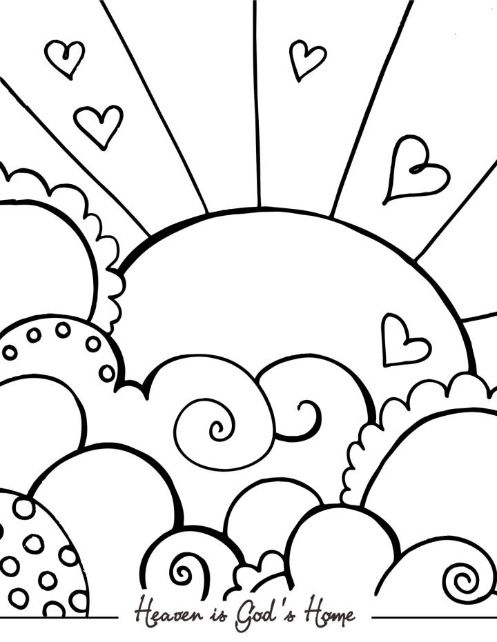 heaven coloring pages - heaven coloring pages kids