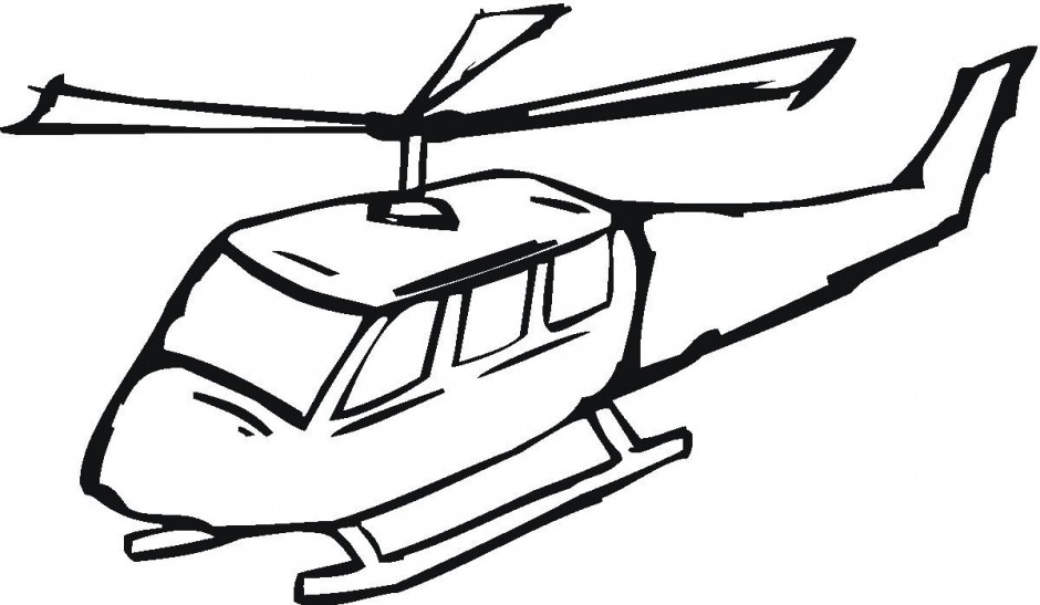 Helicopter Coloring Pages - Clip Art Helicopter Cliparts