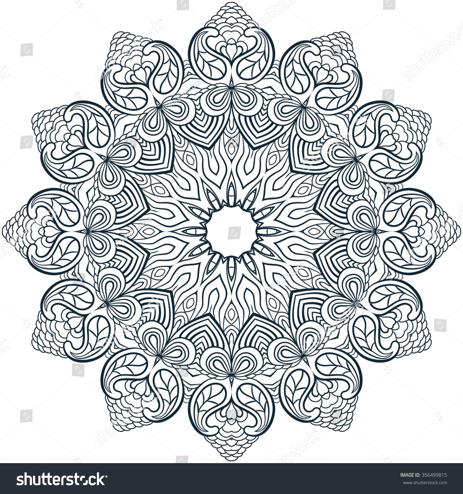 henna coloring pages - stock vector mandala coloring illustration coloring book for adult and older children coloring page with