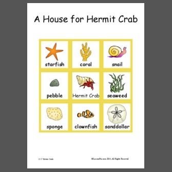 hermit crab coloring page - A House for Hermit Crab