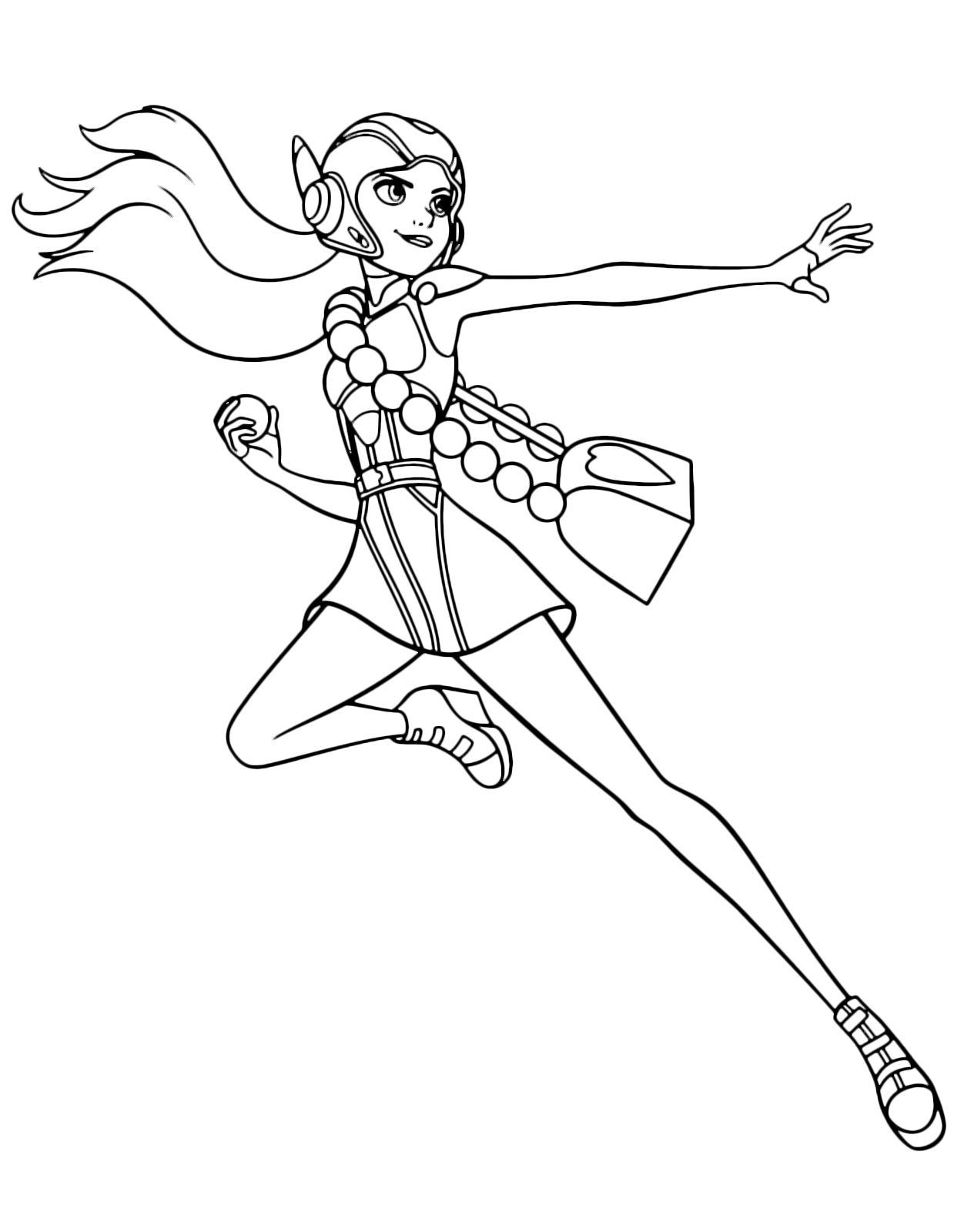 Hero Coloring Pages - Big Hero 6 La Maga Della Scienza Honey Lemon