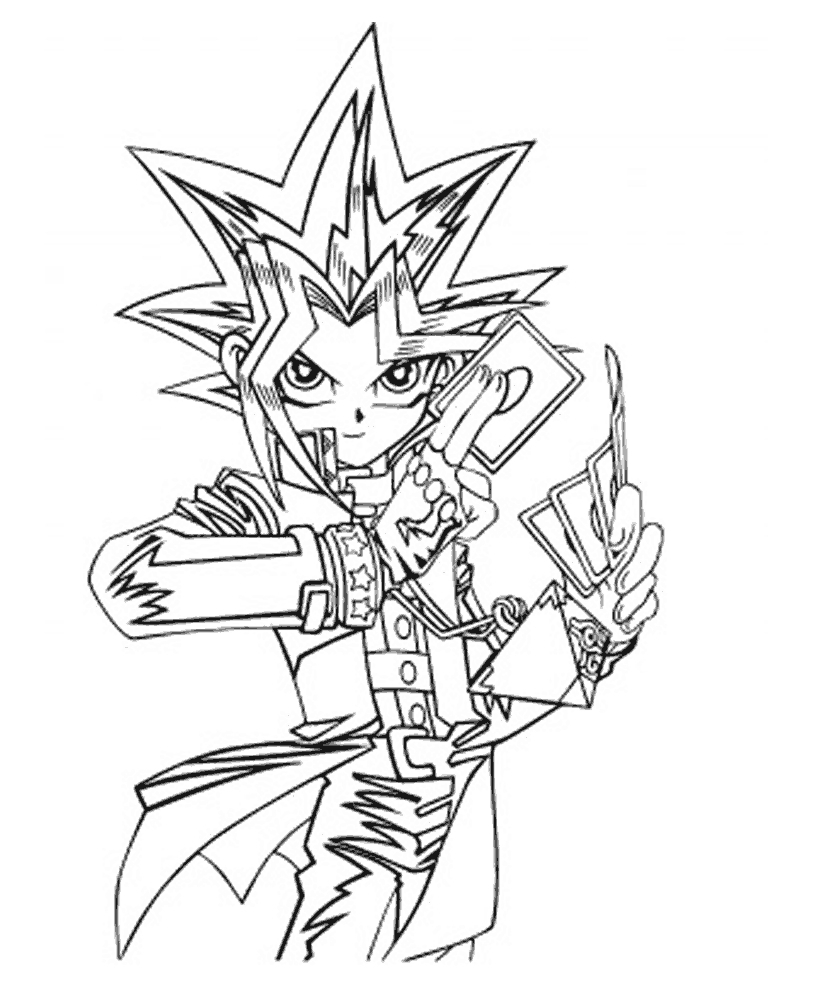 hero coloring pages - colorir yu gi oh