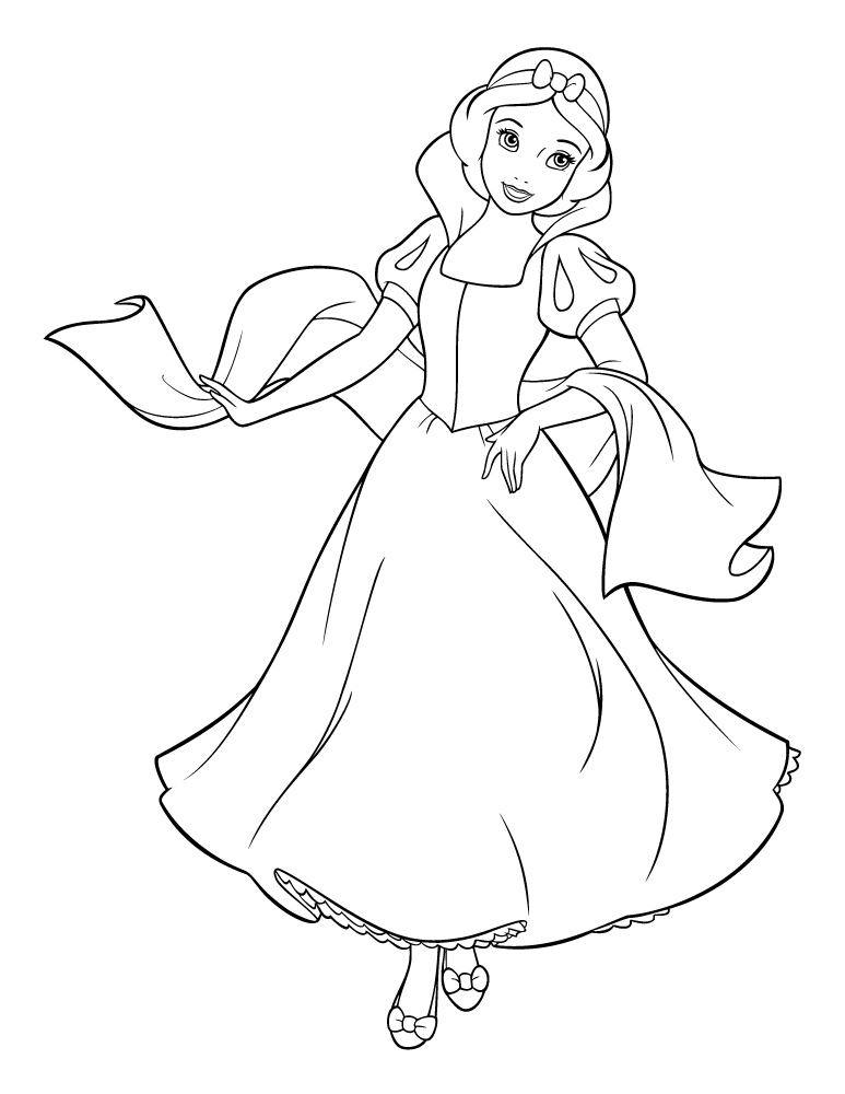 hibiscus coloring page - blanche neige princesse disney imprimer