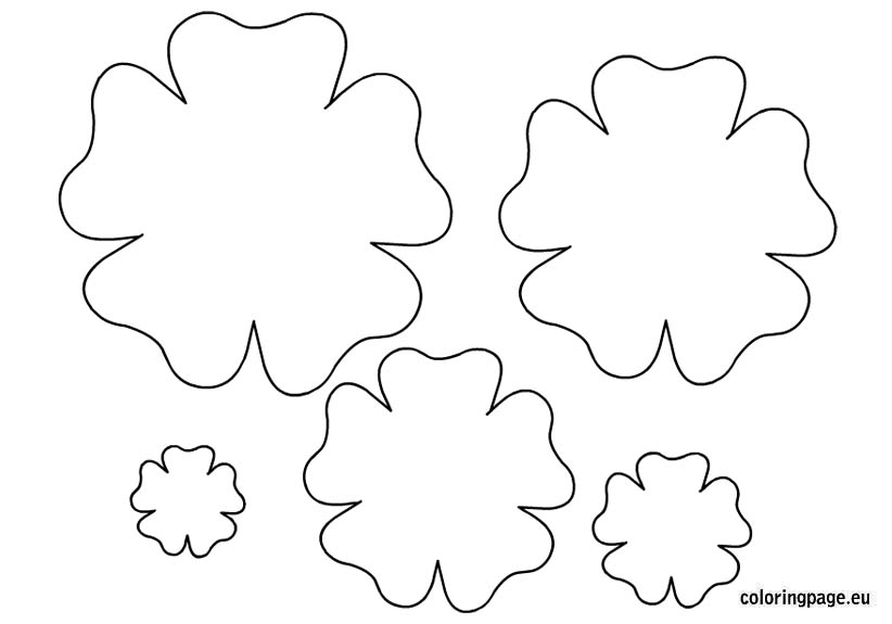 hibiscus coloring page - flower template to colour