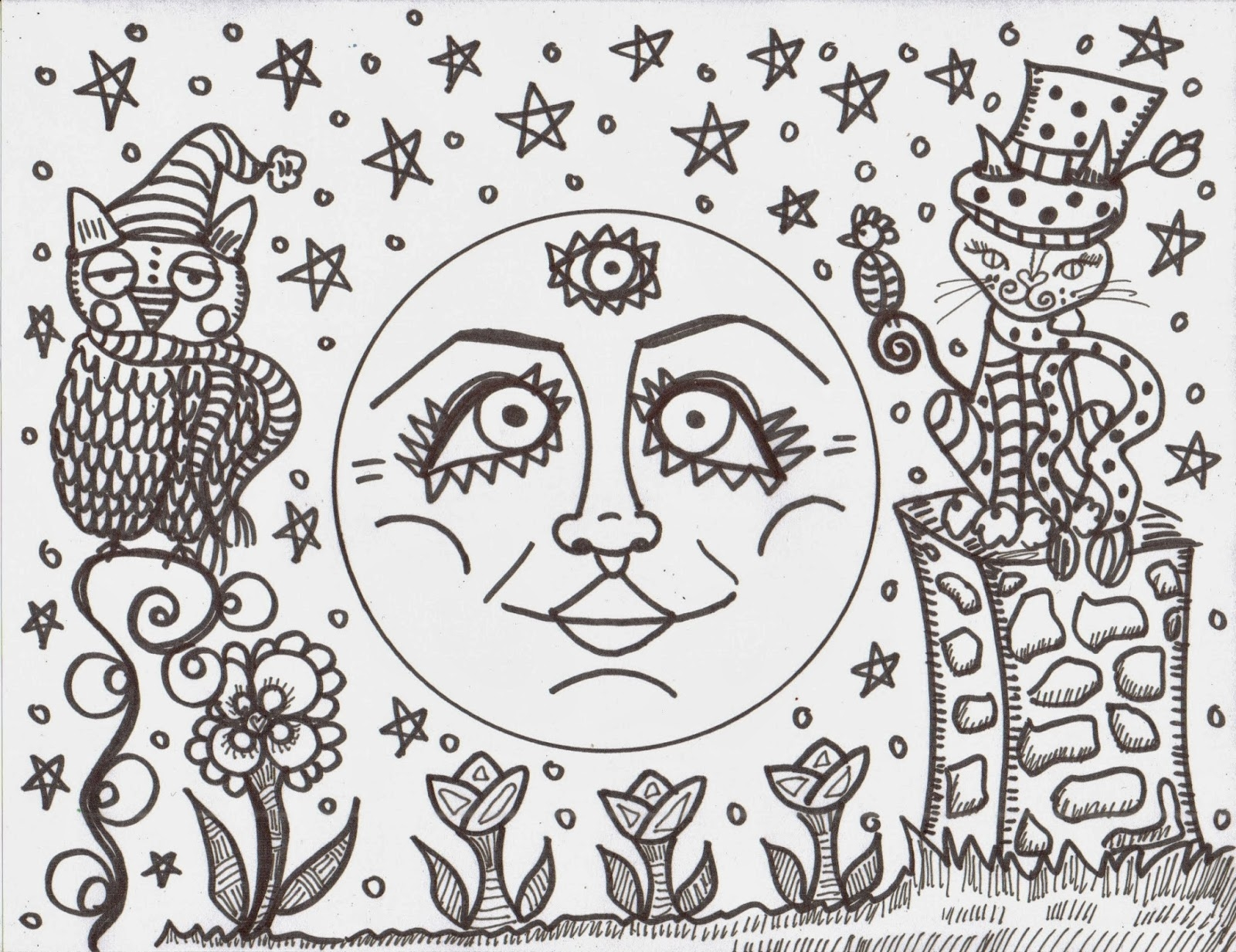 hippie coloring pages - making hippie art coloring books