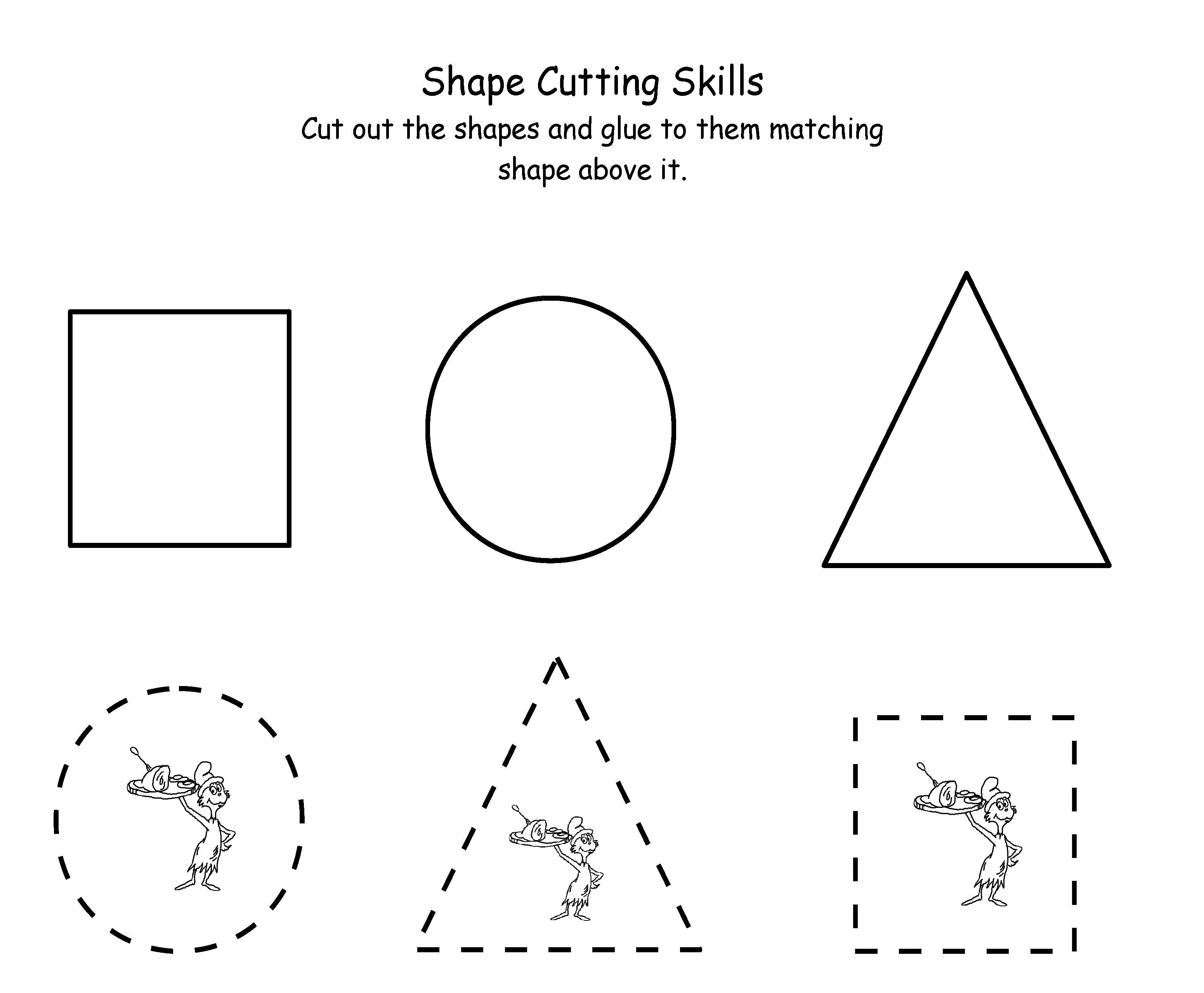 hippo coloring pages - printable shapes cut out