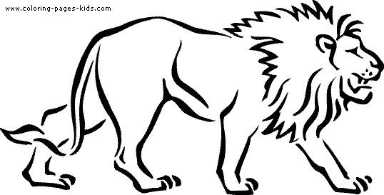hippo coloring pages - lion tiger coloring page 20