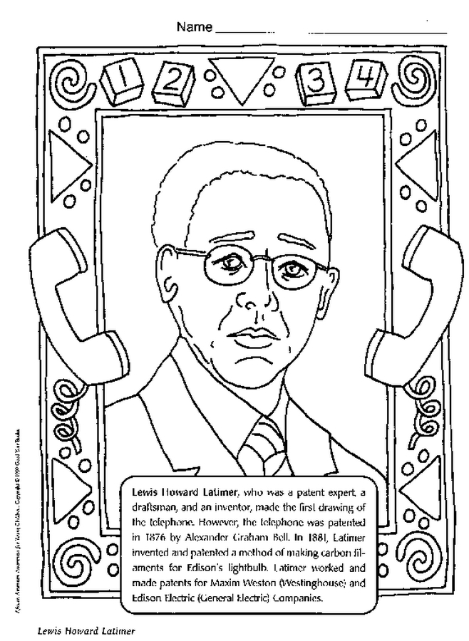 history coloring pages - african american history coloring pages