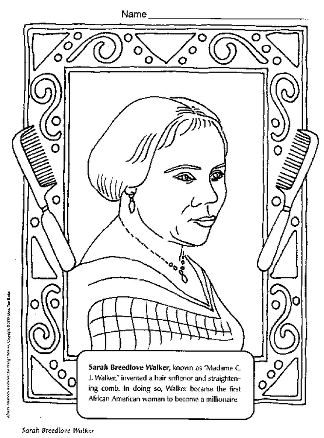 history coloring pages - black history coloring pages for kids