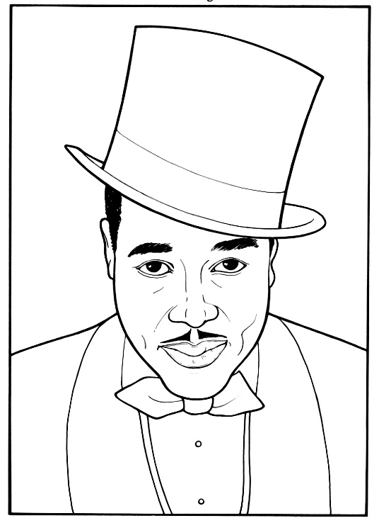 history coloring pages - black history coloring pages