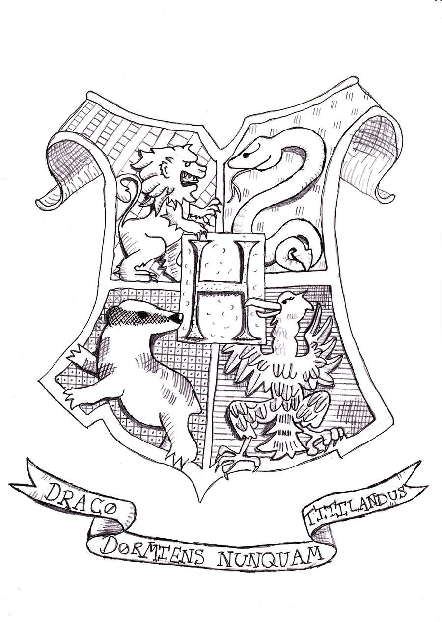hogwarts coloring pages - harry potter coloring pages hogwarts crest