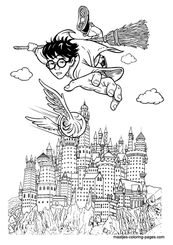 Hogwarts Coloring Pages - Hogwarts Castle Coloring Pages