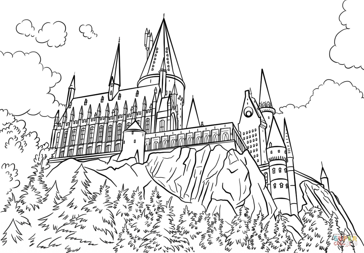 hogwarts coloring pages - hogwarts castle coloring pagestml
