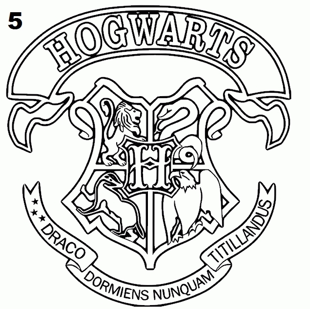 Hogwarts Coloring Pages - Hogwarts Crest Coloring Page Coloring Home