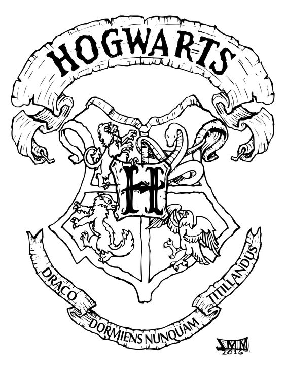 hogwarts coloring pages - hogwarts crest coloring pa ml