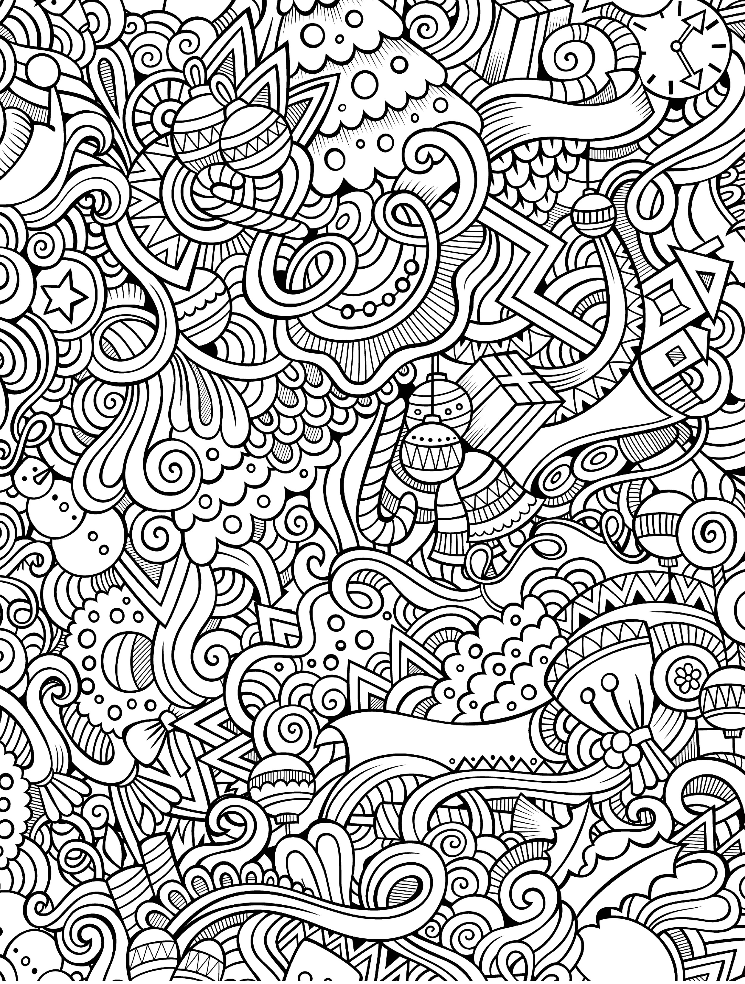 holiday coloring pages for adults - 10