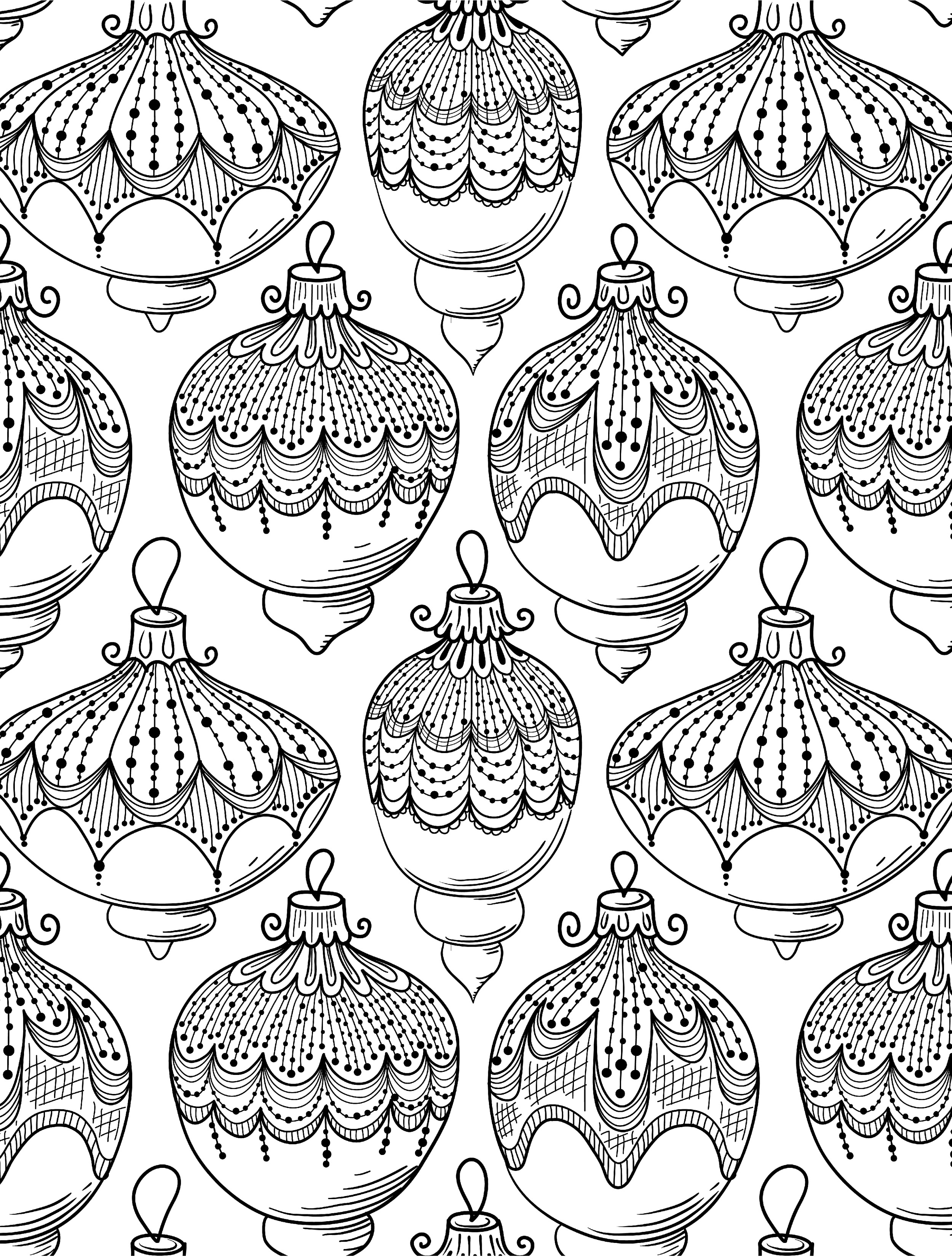 holiday coloring pages for adults - 8