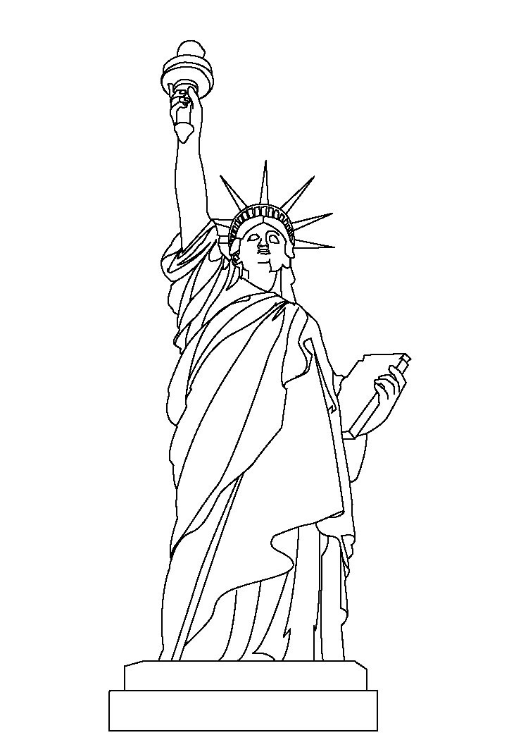 holiday coloring pages - best statue of liberty coloring pages free