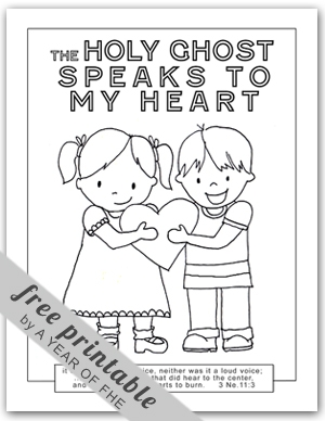 Holy Ghost Coloring Page - A Year Of Fhe 2011 Wk 43 the Holy Ghost