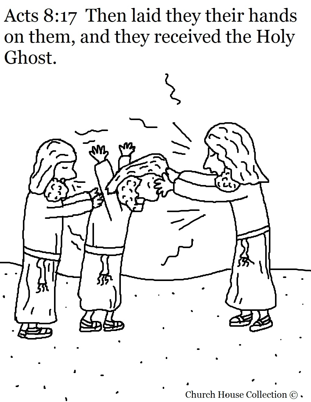 holy ghost coloring page - acts 817 received holy ghost coloring