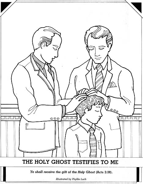 holy ghost coloring page - the holy ghost testifies to me lang=eng