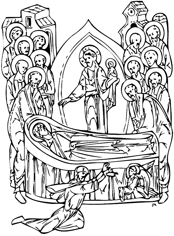 holy spirit coloring page - icon12 dormition