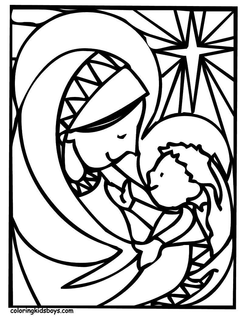 holy spirit coloring page -
