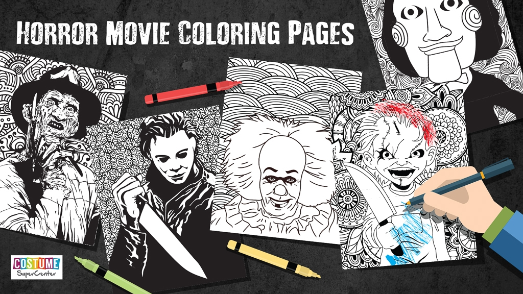 Horror Coloring Pages - Printable Horror Movie Coloring Pages Horrorfix